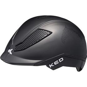 KED Pina Helmet Kinder black matt script